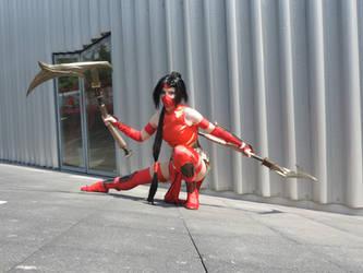 Crimson Akali cosplay (League of Legends) - 16 by Morgawze
