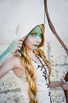 Leafeon gijinka cosplay - Eeveelution DnD by Morgawze