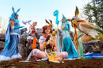 Dnd x Eeveelutions gijinka cosplay group 2019 by Morgawze