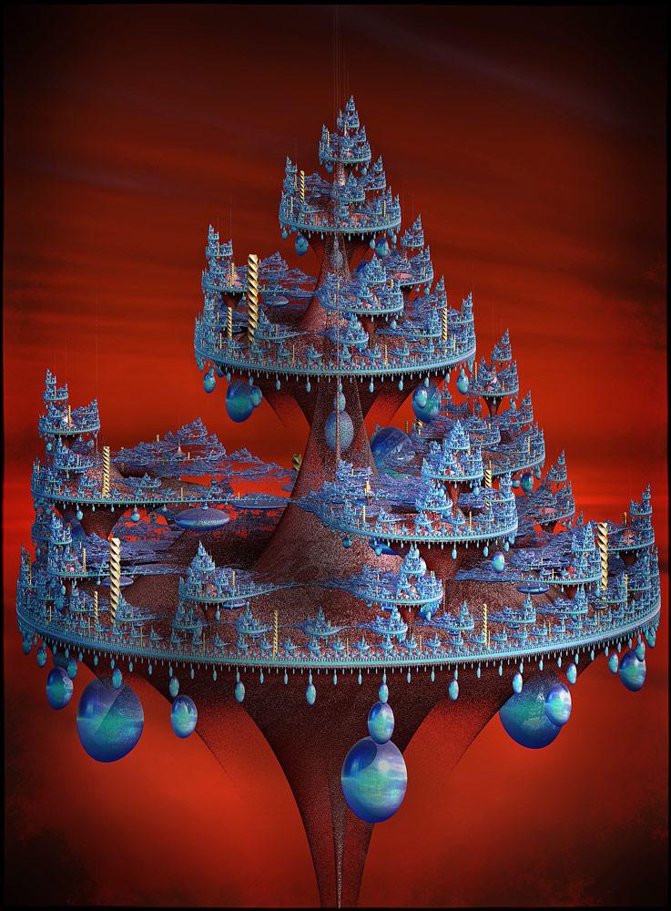 futuristic christmas tree by godino on deviantart
