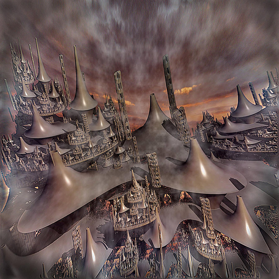 Strange Pagodas by Godino