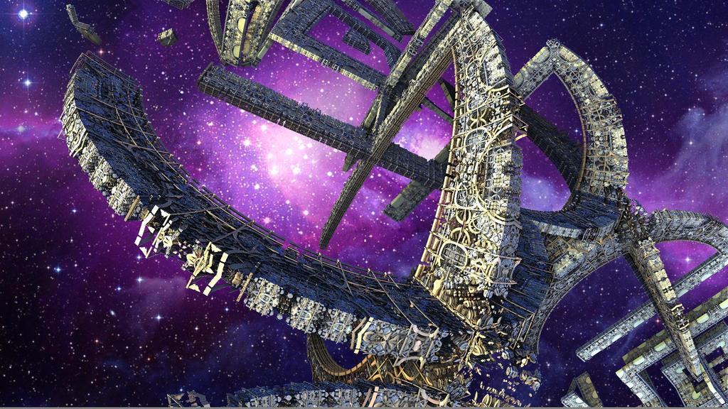 Alien Spacestation by Godino