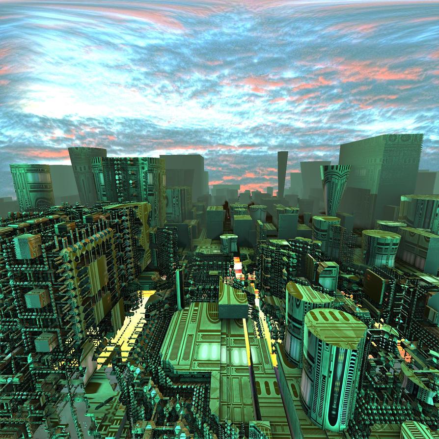 Scifi City by Godino