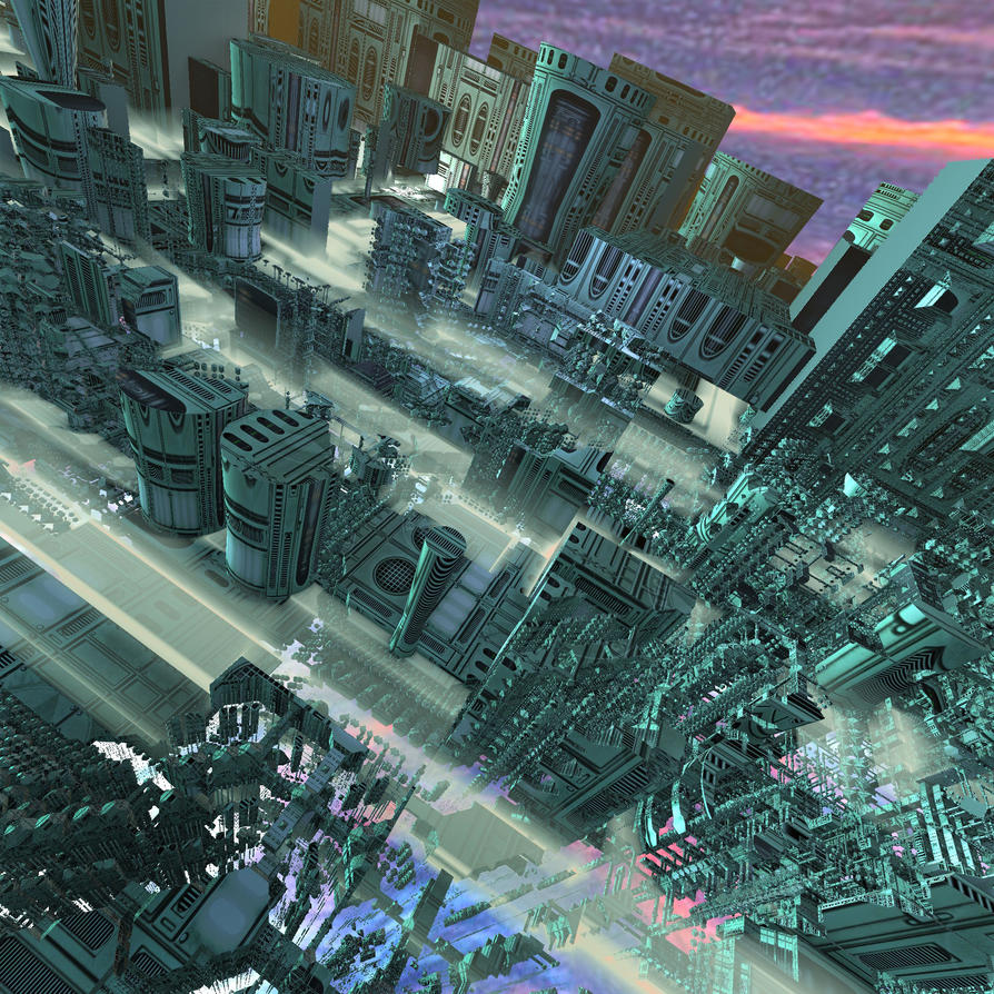 Scifi City 2 by Godino