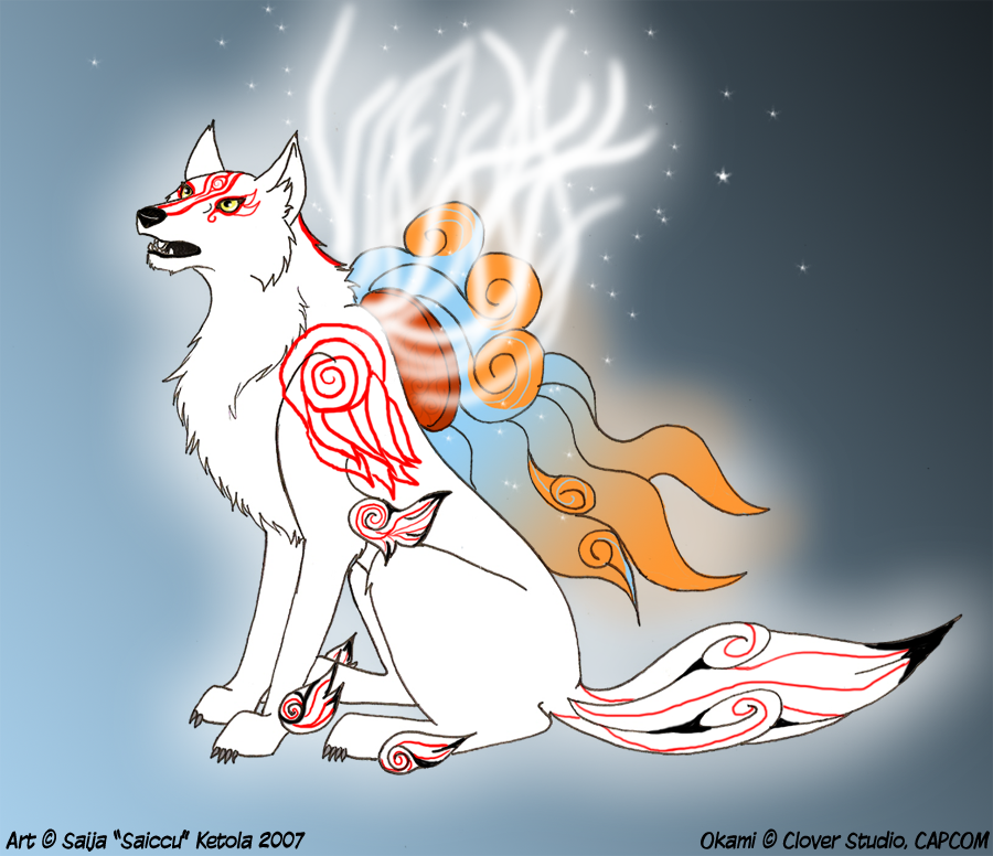 Amaterasu White Light Majesty by Saissu