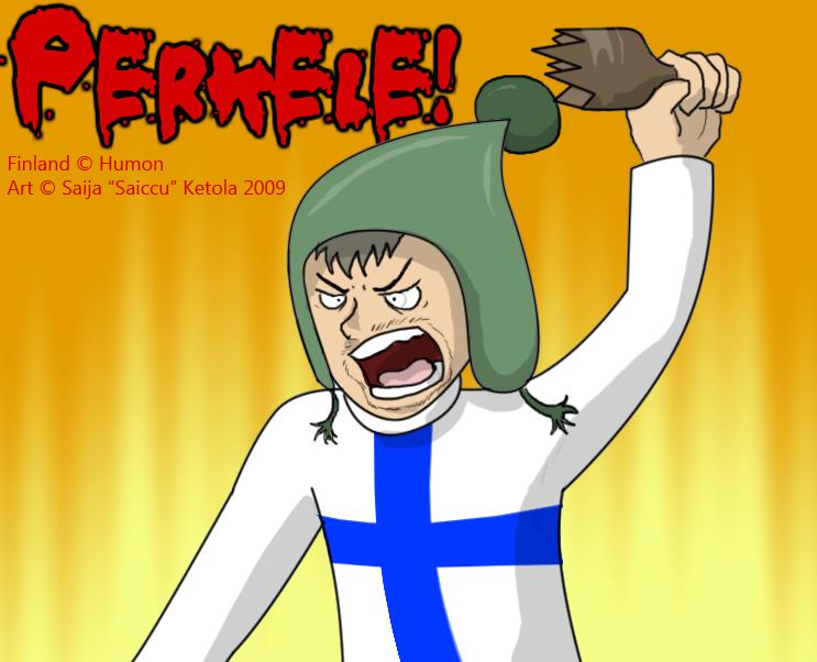 Suomi Finland Perkele by Saissu