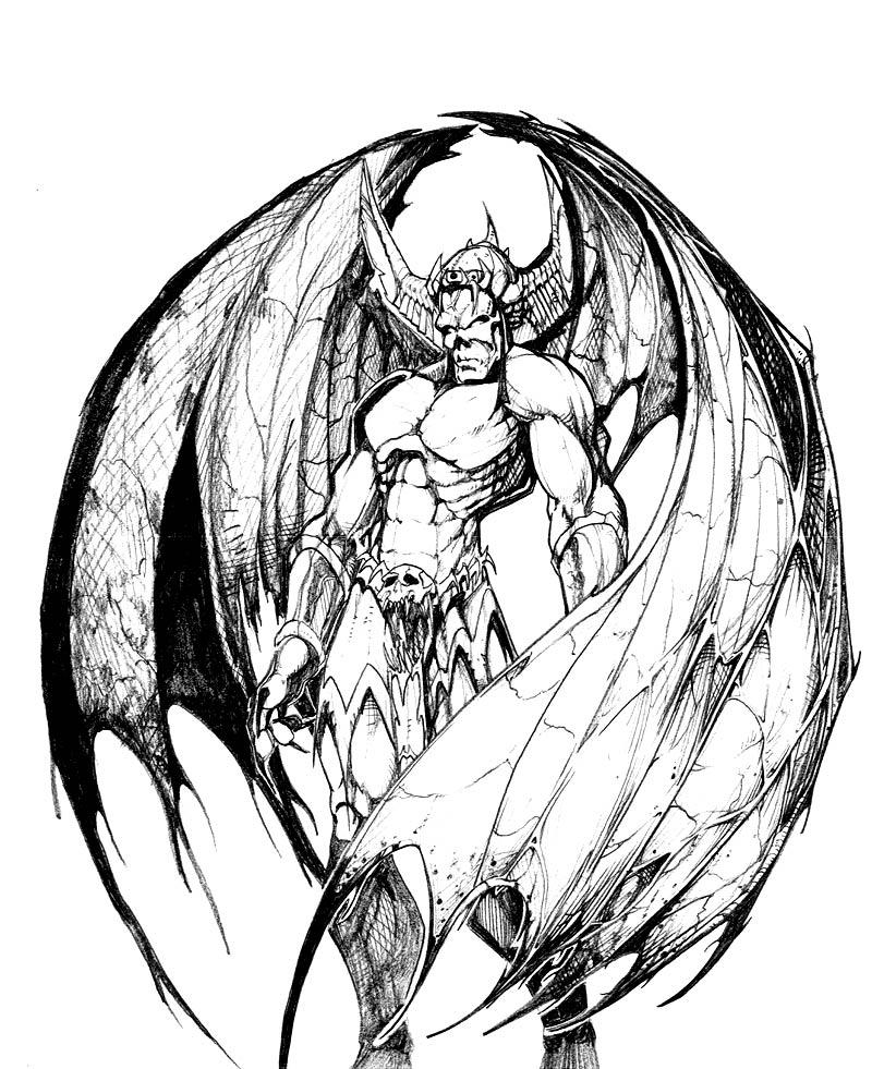 demon dragon coloring pages - photo#12