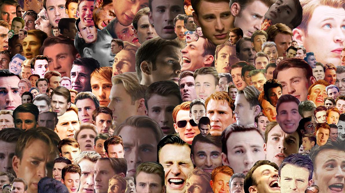 Chris Evans Collage 1 (Collage Series) by UnadithGreenleaf