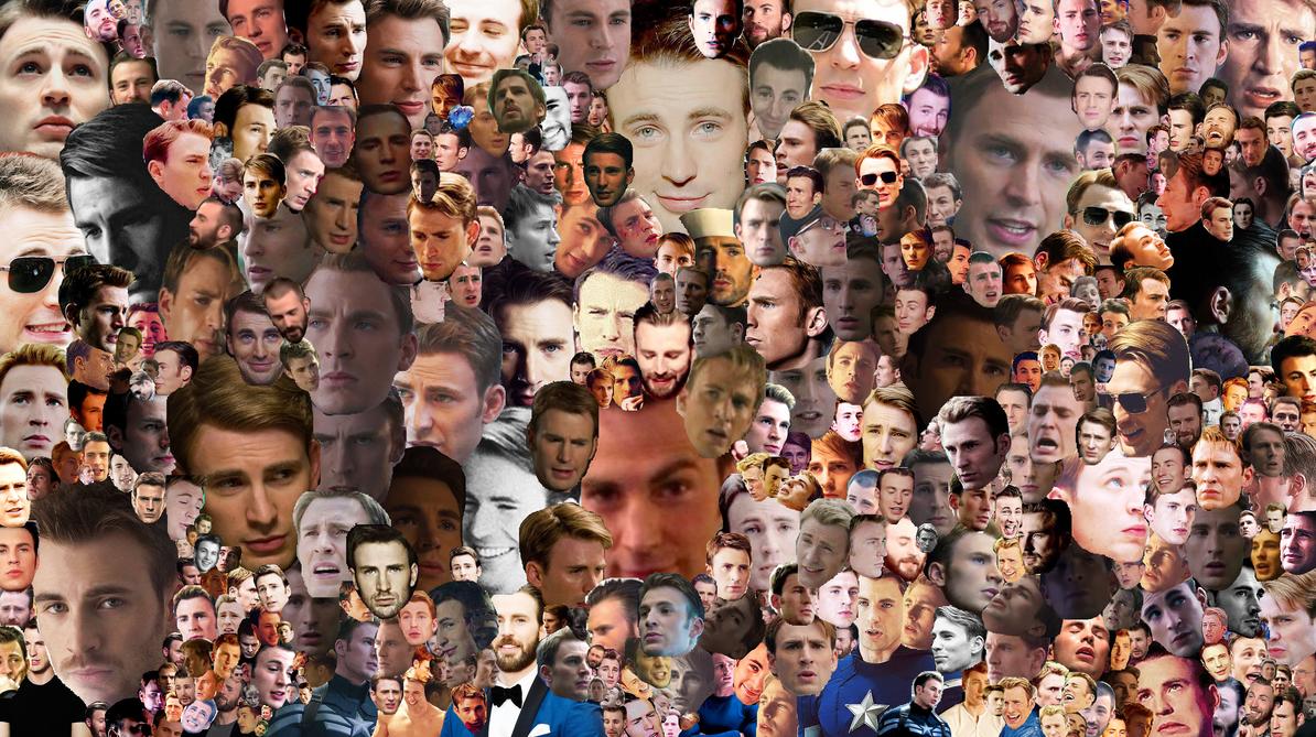 Chris Evans Collage 2 (Collage Series) by UnadithGreenleaf