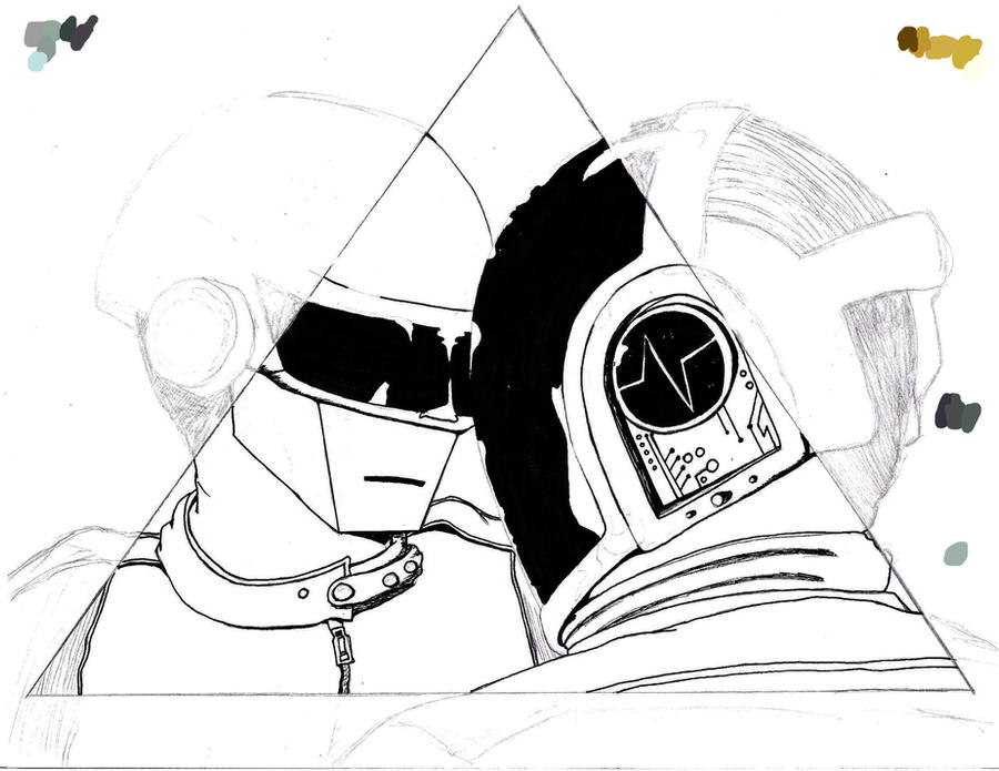 Daft Punk WIP by colors-fruits-sweets