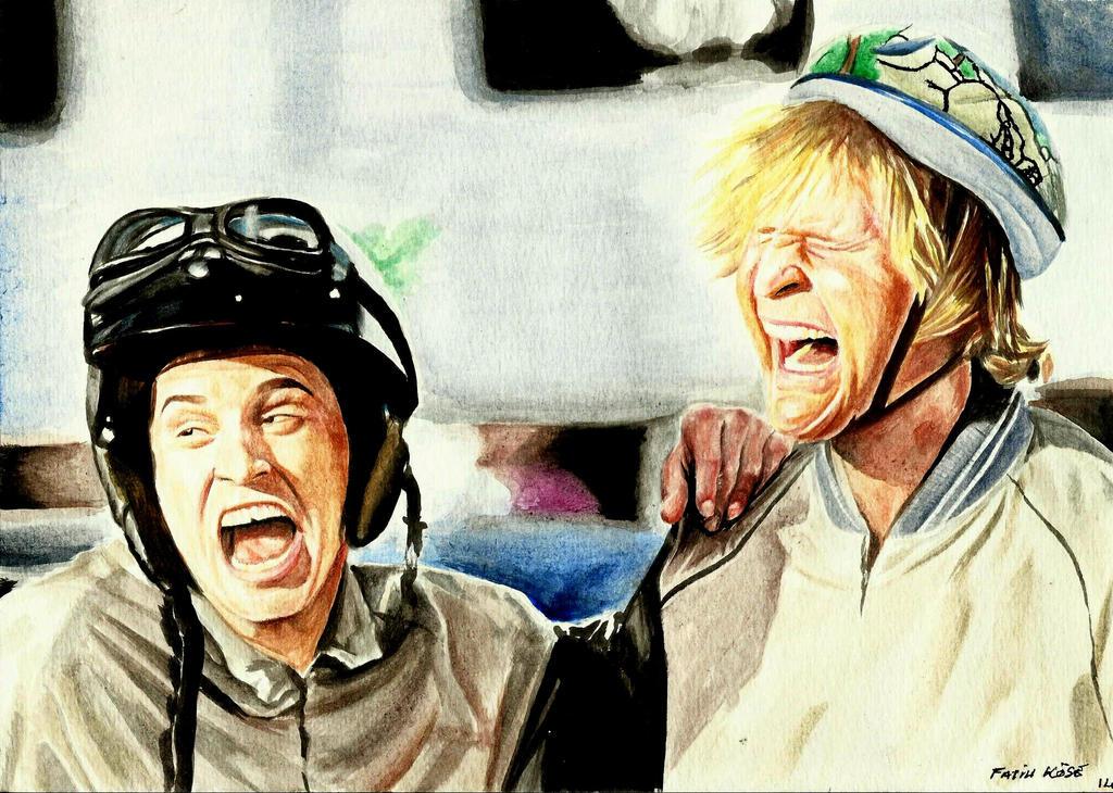 Watercolor Work ( Dumb and Dumber ) by PlainWhite-92