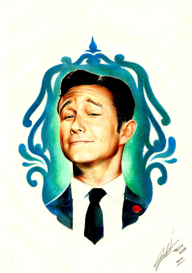 color pencil on paper.. ( Joseph Gordon - Levitt ) by PlainWhite-92