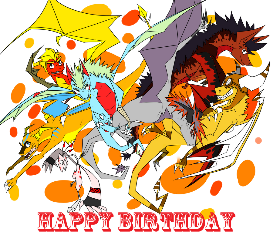 HAPPY TOOTALICOUS BIRTHDAY FLAMEBUT by Naninadz