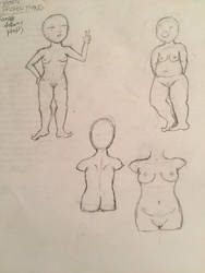 Female body proportions practice  by Jamjamdontgiveadamn