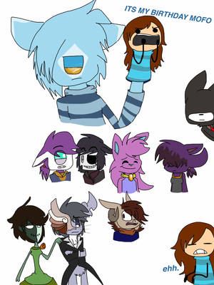 ANIMATICS AND HER CHARACTERS by segafan5