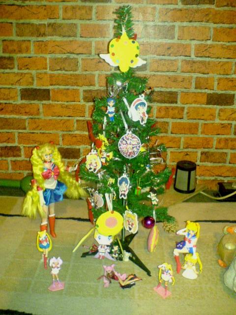 my sailor moon christmas tree by elyonsan