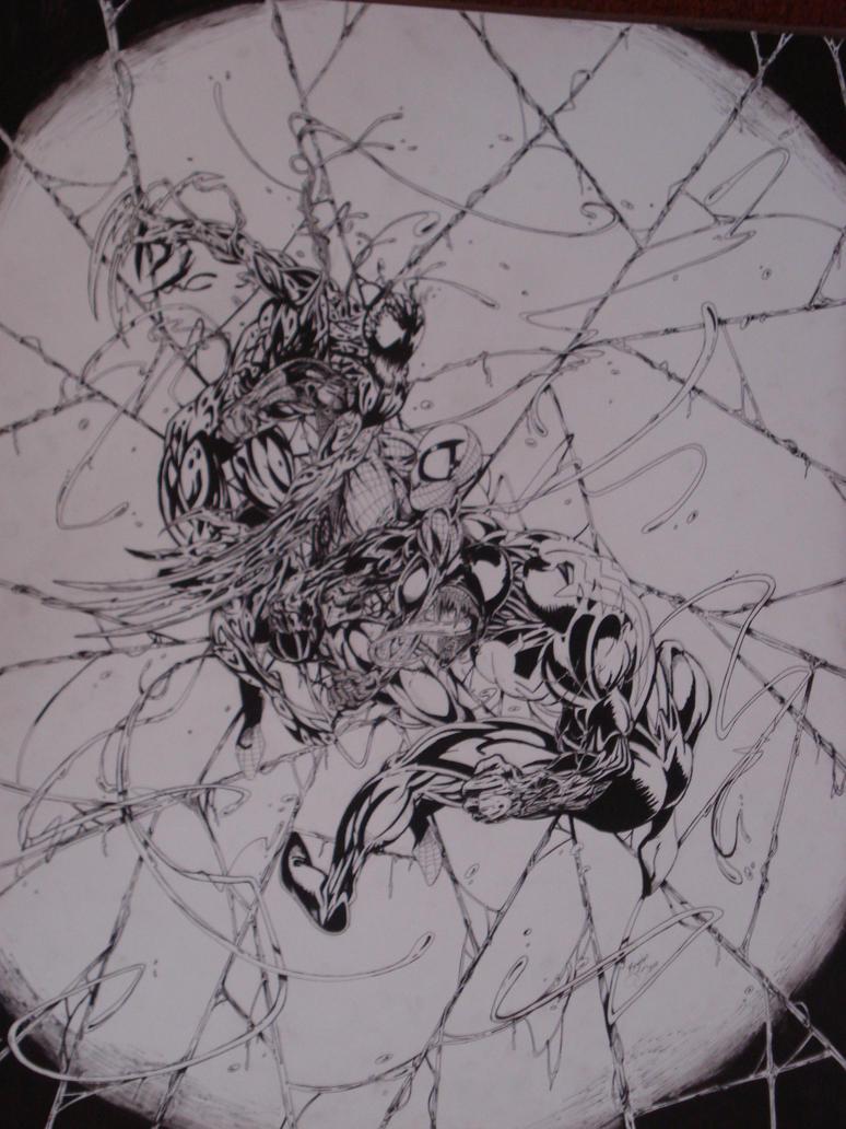 Spiderman vs carnage drawings - photo#31