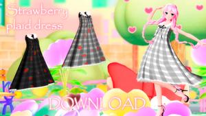 DL : Strawberry plaid dress - (DISCOUNT)