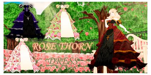 DL : A rose thorn dress (MMD download)