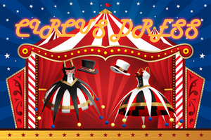 MMD dl : Circus dress + hat download by HoshichoM