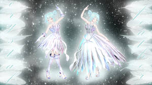 [MMD dl] Feather dress download by HoshichoM