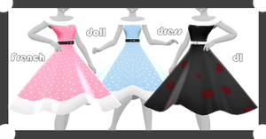 MMD DL : French doll dress download