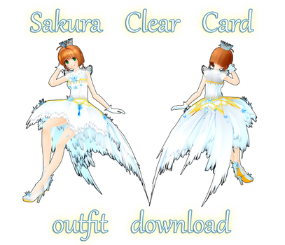 MMD DL : Sakura Clear Card outfit download