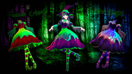 MMD Poisson Apple Witch dress DL / download