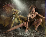 Cleopatra Dragon Rider-The Cave by Slofkosky