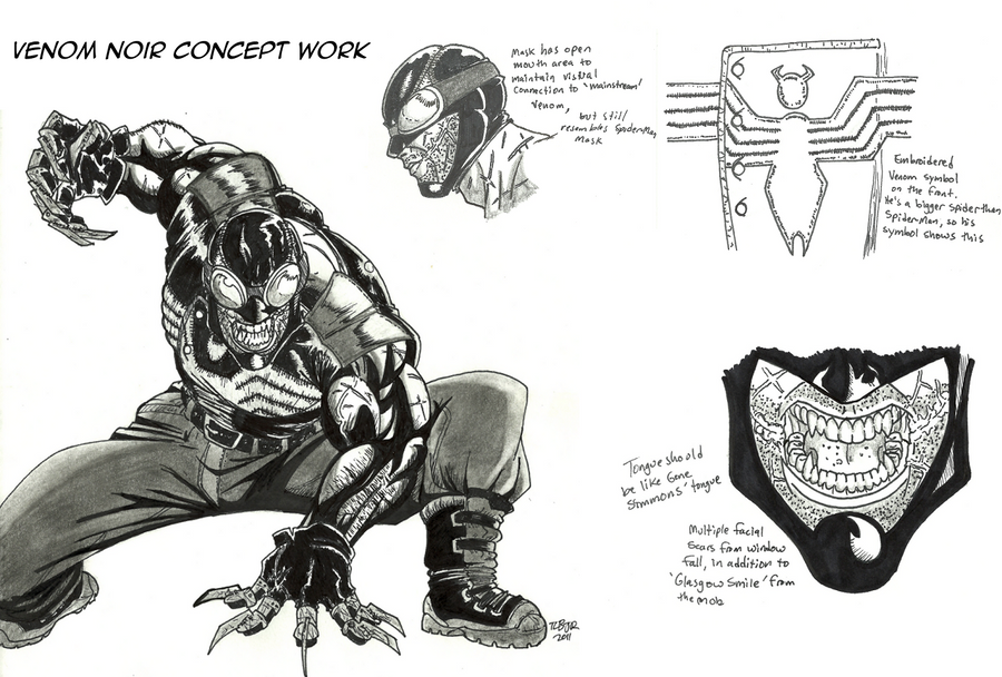 Venom Noir Concepts By Malikstudios On Deviantart