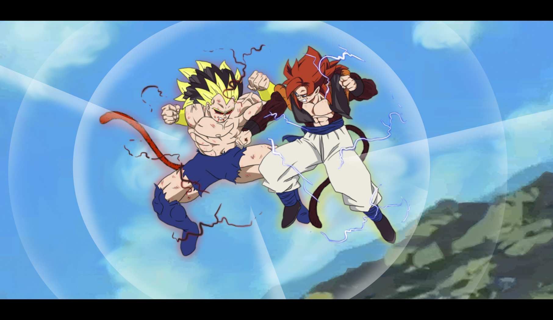 Rigor vs Gogeta - Final Battle Screenshot by MalikStudios