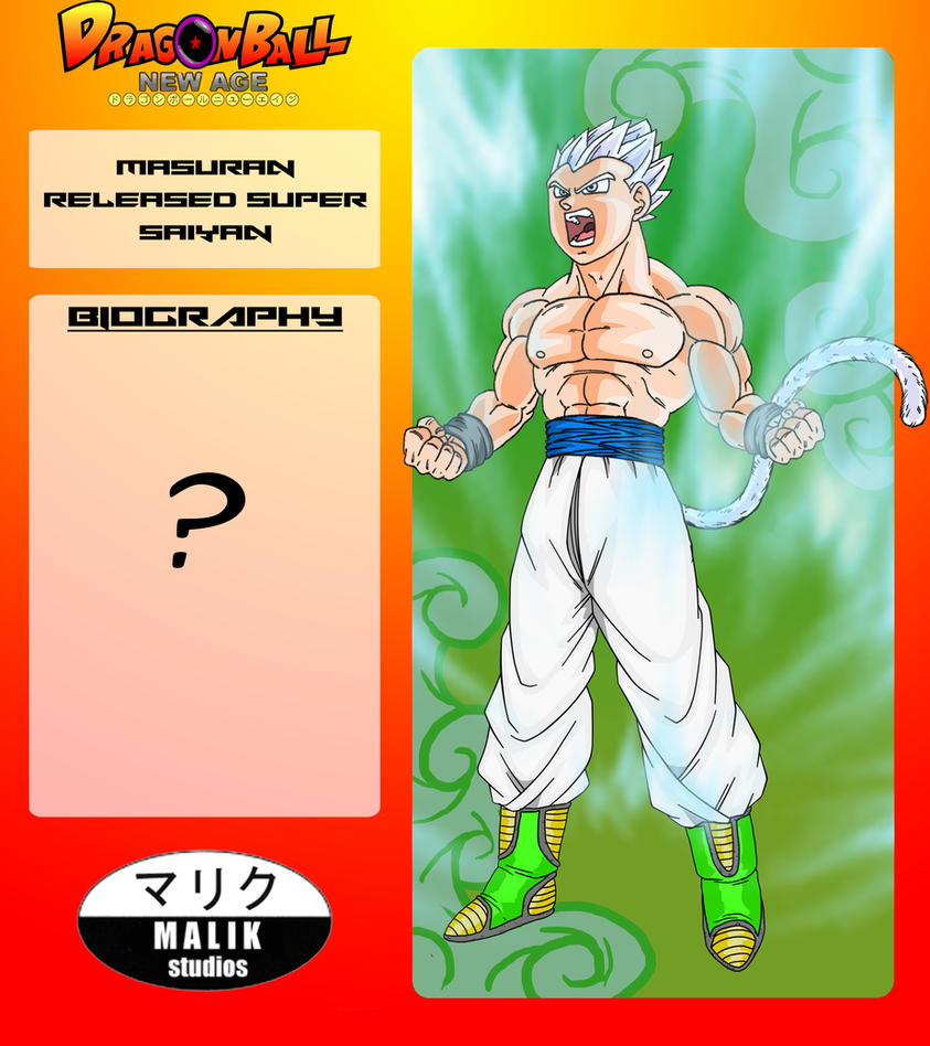 Masuran - Released Super Saiyan Bio Card by MalikStudios