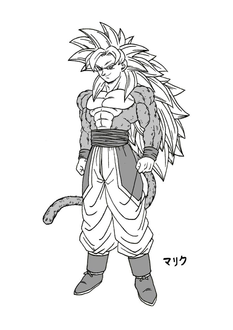 SSJ5 Son Goku (New Design - Manga version) by MalikStudios