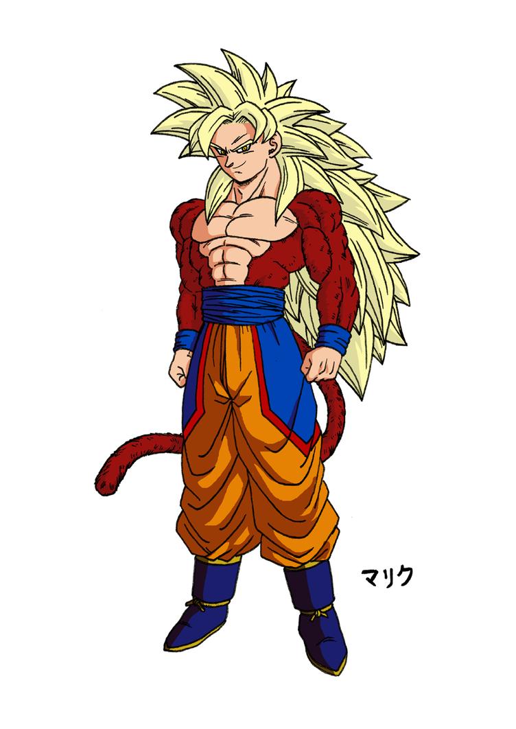 SSJ5 Son Goku (New Design - Colored version) by MalikStudios