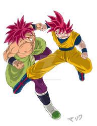 Sparring Gods - Goku vs Broly