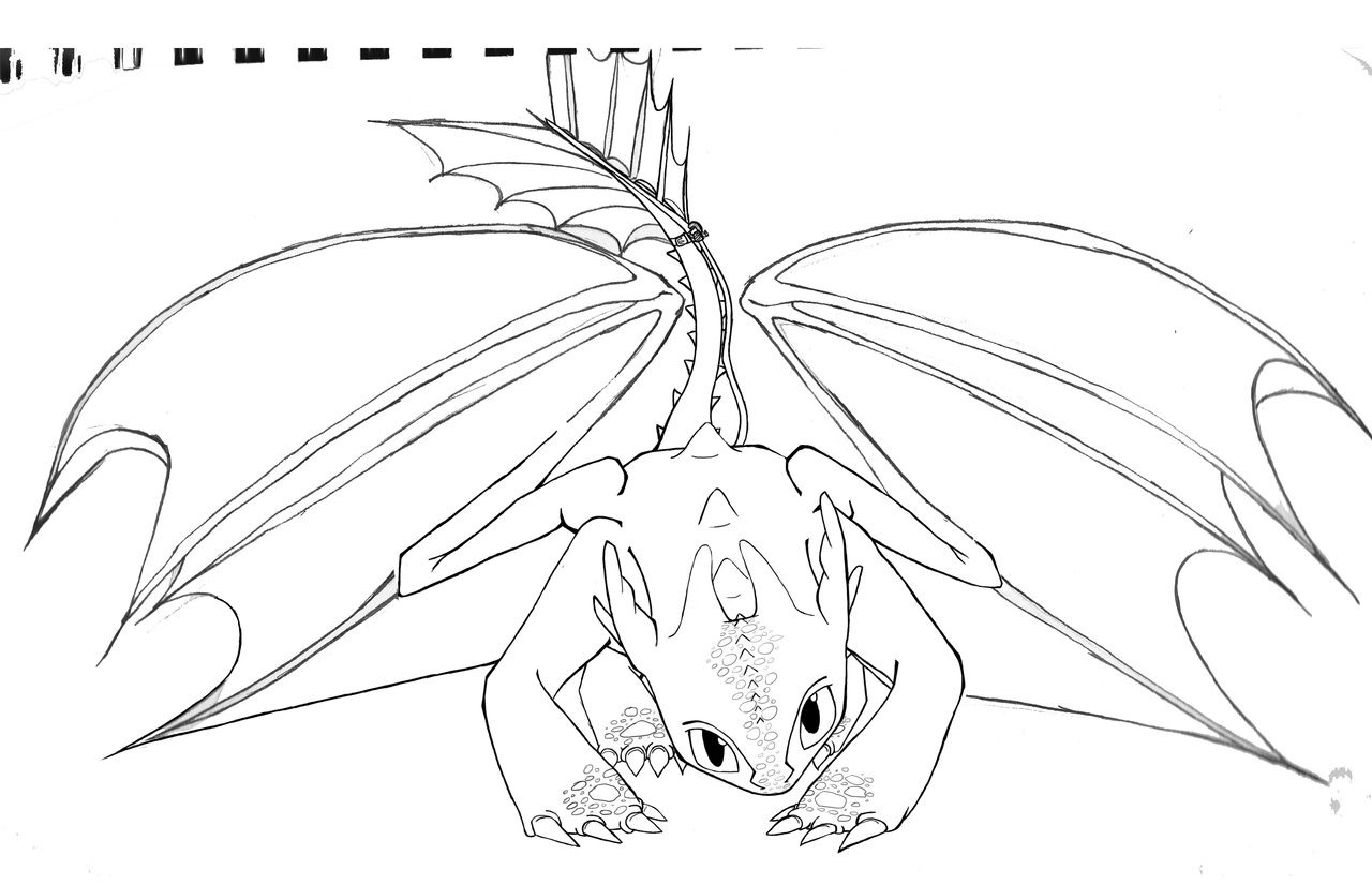 toothless coloring page - toothless wip by shiila on deviantart