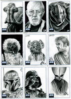 Topps Star Wars Galaxy Pt III by AstroVisionary