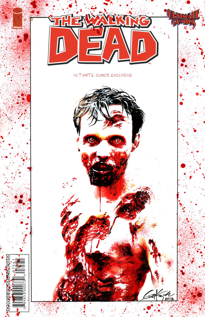 Walking Dead Sketch Cover - Walker by AstroVisionary