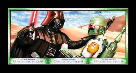 Vader vs Boba Fett 3 card Puzzle (Topps)