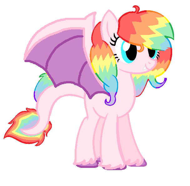 Rainbow Dragon Pony Birthday Present by slitherfang on DeviantArt