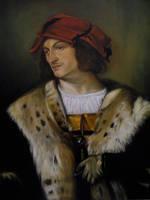 Man in a Red Cap - Titian copy