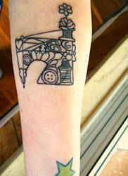 Sewing Machine Tattoo by Ashler-Sauce