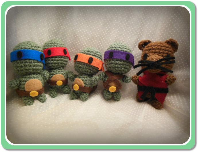 Teenage Mutant Ninja Turtles Gang Amigurumi by Ashler-Sauce