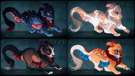 [ 1/4 open] Adopts: Chimera Cubs by Flora-Tea