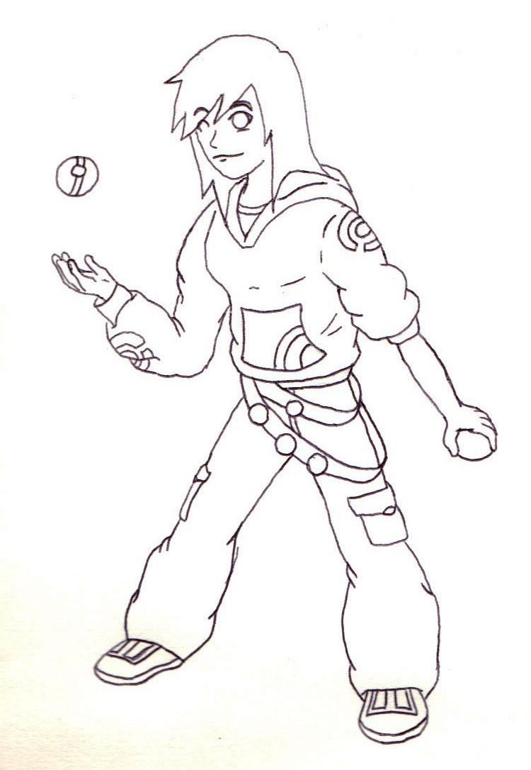 Line Drawing Female : Oc trainer female line drawing by m l gemini on deviantart
