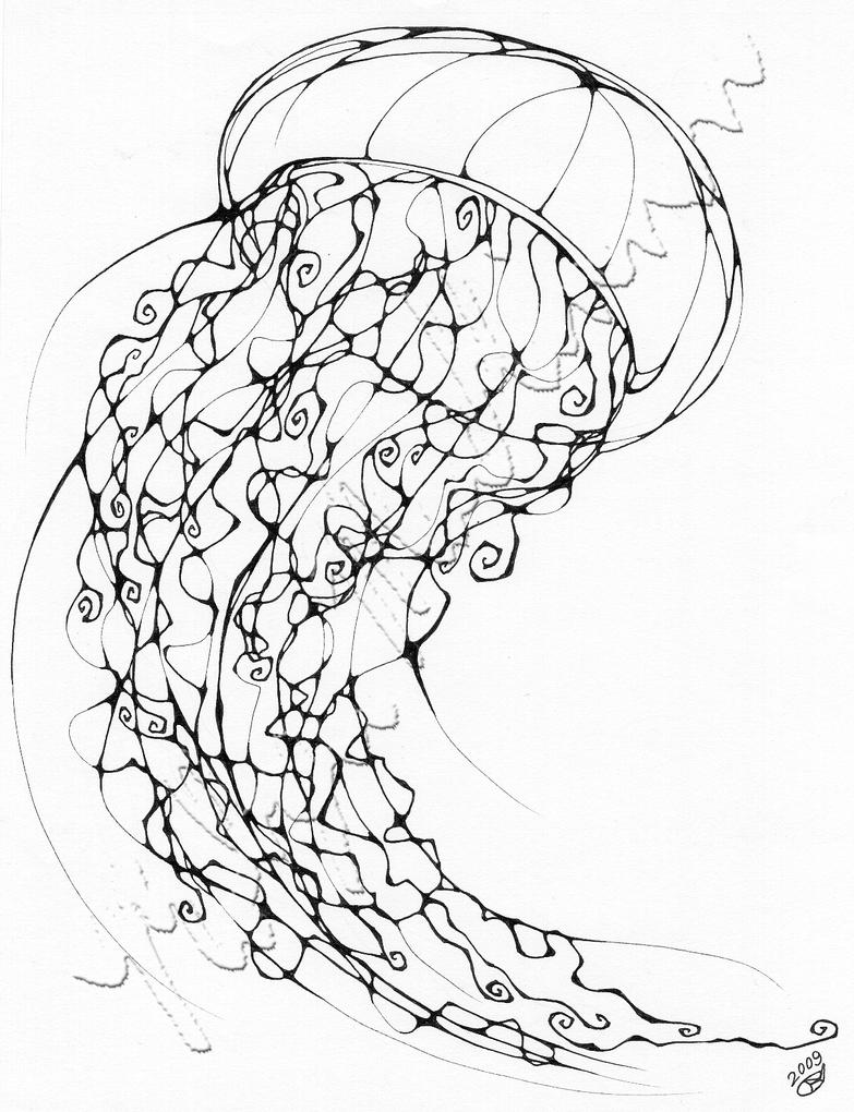 Line Art Jellyfish : Inkblot jellyfish by chimeradreams on deviantart