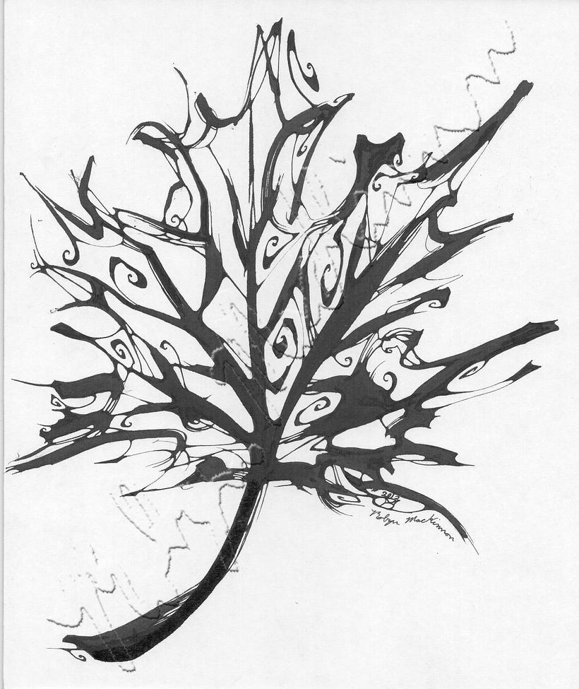 maple leaf ink drawing by chimeradreams on deviantart. Black Bedroom Furniture Sets. Home Design Ideas