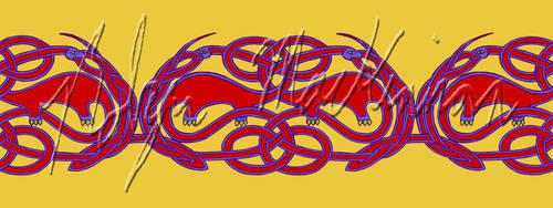 Knotwork Apatosauruses (Mug Design) by ChimeraDreams