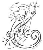 Inkblot Lizard