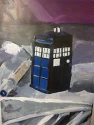 Tardis painting attempt by Castiel-Abhorsen